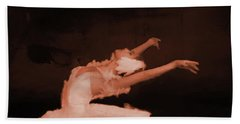 Ballet Dancer In White 01 Hand Towel