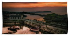 Ballintoy Harbour Sunset Hand Towel