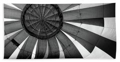 Balloon Fantasy - B And W Hand Towel