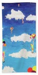 Balloon Girls Hand Towel