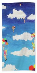 Balloon Girls Hand Towel