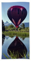 Balloon Reflection Bath Towel by Leland D Howard