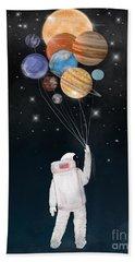 Solar Planets Paintings Bath Towels