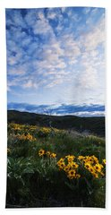 Balsam Root Bloom In Boise Idaho Usa Hand Towel