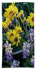Balsam Roots And Lupines Hand Towel