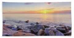Bath Towel featuring the photograph Baltic Sunrise by Dmytro Korol