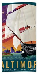 Baltimore - By The Dawns Early Light Bath Towel