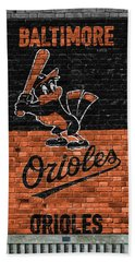 Baltimore Orioles Brick Wall Hand Towel