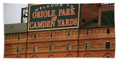 Baltimore Orioles Park At Camden Yards Hand Towel