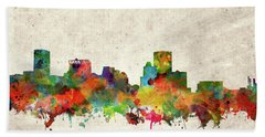 Bath Towel featuring the painting Baltimore Skyline Watercolor 2 by Bekim Art