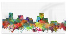 Hand Towel featuring the painting Baltimore Skyline Watercolor 3 by Bekim Art