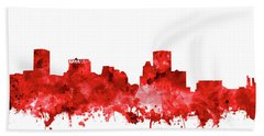 Hand Towel featuring the painting Baltimore Skyline Watercolor 7 by Bekim Art