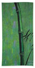 Bath Towel featuring the painting Bamboo by Jacqueline Athmann