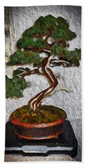 Hand Towel featuring the painting Bamboo Tree by Joan Reese