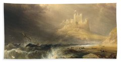 Bamborough Castle Hand Towel by Willliam Andrews Nesfield