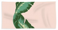 Banana Leaf Square Print Hand Towel