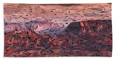 Banded Canyon Abstract Bath Towel