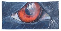 Eye Of The Bandit Bath Towel by T Fry-Green