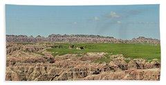 Badlands Panorama Hand Towel by Nancy Landry