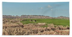 Badlands Panorama Bath Towel