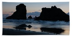Bandon Oregon Sea Stacks Hand Towel
