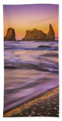 Hand Towel featuring the photograph Bandon's Breath by Darren White