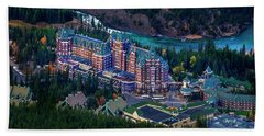 Bath Towel featuring the photograph Banff Springs Hotel by John Poon