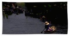 Bangkok Floating Market Bath Sheet