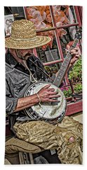 Banjo Man Orange Hand Towel