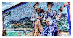 Banjo Mural Hand Towel by Dale R Carlson