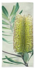 Hand Towel featuring the photograph Banksia by Linda Lees