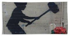 Banksy In New York Bath Towel
