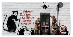 Banksy - The Tribute - Rats Hand Towel