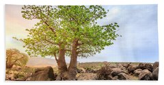 Hand Towel featuring the photograph Baobab Tree by Alexey Stiop
