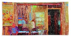 Bar Puccini Lucca Italy Hand Towel by Wally Hampton
