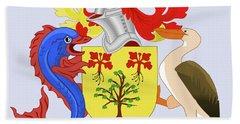 Barbados Coat Of Arms Bath Towel by Movie Poster Prints