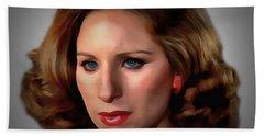 Barbara Streisand Bath Towel by Sergey Lukashin