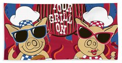 Barbecue Pigs Hand Towel