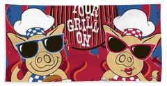 Barbecue Pigs Bath Towel
