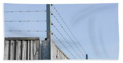Barbed Wire Fence Hand Towel