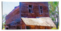 Hand Towel featuring the photograph Barber Store by Susan Kinney