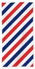 Barber Stripes Hand Towel
