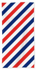 Barber Stripes Bath Towel