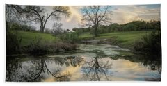 Bare Tree Reflections Bath Towel
