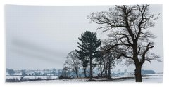 Bare Trees In The Snow Bath Towel
