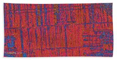 Hand Towel featuring the photograph Barn Abstract  by Tom Janca