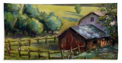 Barn And Field Bath Towel