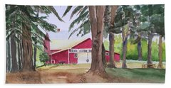 Barn At Howland Preserve Hand Towel