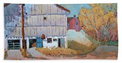 Barn Door Whimsy Bath Towel by Joyce Hicks