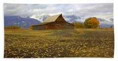 Barn On Mormon Row Utah Bath Towel